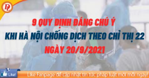 Lưu ý khi thực hiện chống dịch theo Chỉ thị 22 tại Hà Nội - Minh họa