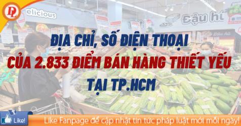 Địa chỉ, số điện thoại những địa điểm bán hàng thiết yếu tại TP. HCM - Minh họa