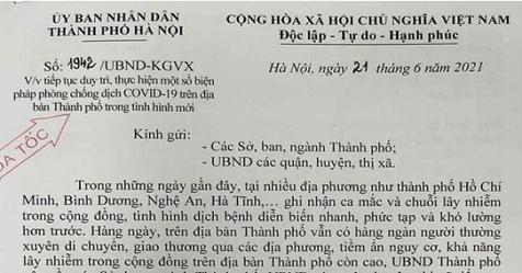 Nới lỏng các biện pháp phòng, chống dịch tại Hà Nội - Minh họa