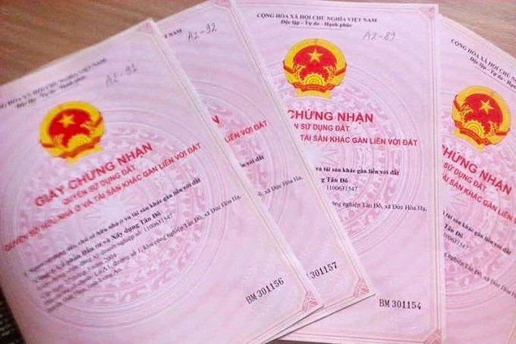 11 thủ tục cấp sổ đỏ được tiếp nhận tại Chi nhánh Văn phòng đăng ký đất đai hoặc UBND xã ở TP.HCM